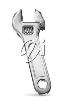 Adjustable wrench, vector