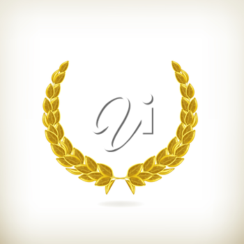 Laurel wreath, award vector