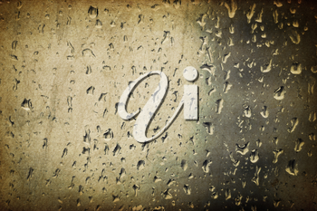Vintage glass with raindrops