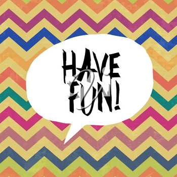 Have fun! Colorful aged chevron pattern. Grunge layers can be easy editable or removed.