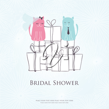 Royalty Free Clipart Image of a Bridal Shower Invitation
