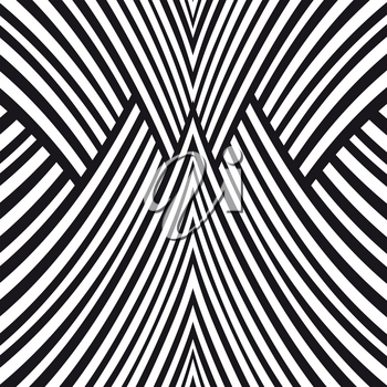 Abstract background. Black and white symmetric pattern.