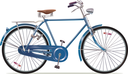 The old blue classic bicycle. This is the great example of an old retro bikes.Editable vector EPS v.10