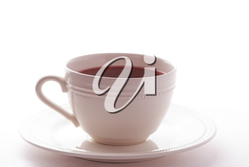 white cup with drink isolated