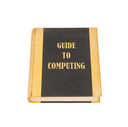 Old book with a computing concept title, white background