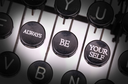 Typewriter with special buttons, always be yourself