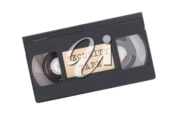 Retro videotape isolated on a white background - Security tape