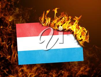 Flag burning - concept of war or crisis - Luxembourg