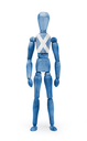 Wood figure mannequin with flag bodypaint on white background - Scotland