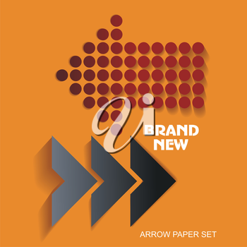 Brand New stickers and tags, paper arrows