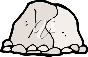 Royalty Free Clipart Image of a Large Rock