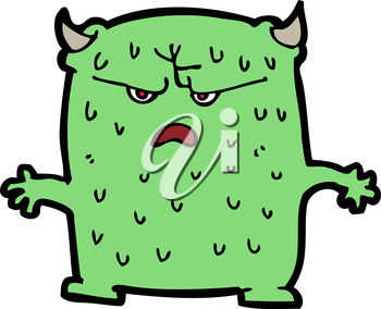 Royalty Free Clipart Image of a Little Alien