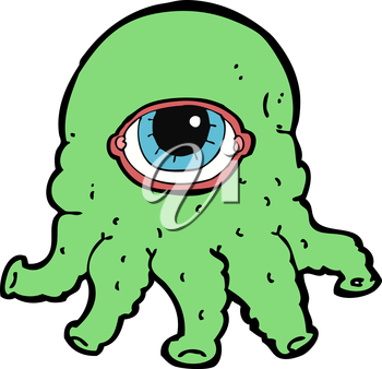 Royalty Free Clipart Image of an Alien Head