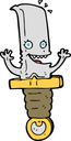 Royalty Free Clipart Image of a Happy Dagger