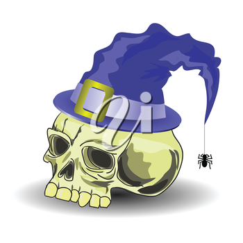 colorful illustration with skull for your design