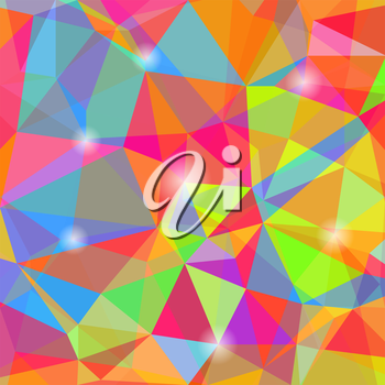Colorful Mosaic Polygonal Background. Abstract Geometric Pattern.
