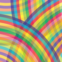 Abstract Colorful Line  Background. Abstract Rainbow Pattern