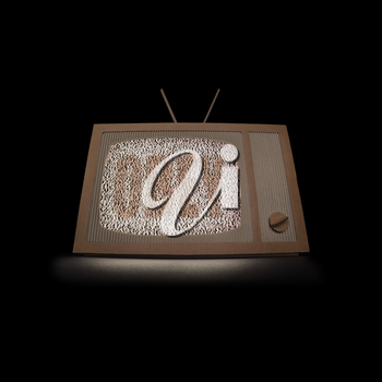 TV made of cardboard. Television shaping opinions concept.
