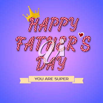 Happy Fathers Day hand drawn typography, EPS 10, vector illustration for greeting card