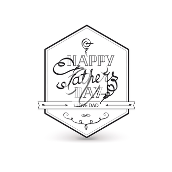 Fathers day vintage lettering background. Vector typographic illustration