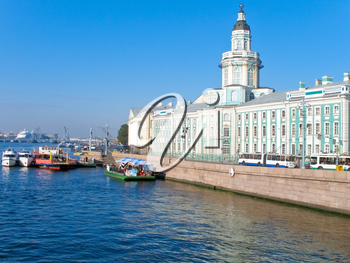 building of Kunstkamera in St.Peterburg, Russia