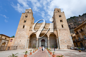 medieval norman Cathedral in Cefalu, Sicily, Italy on June 25, 2011