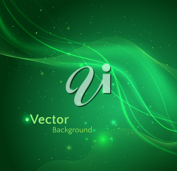 Glowing vector background with waves.