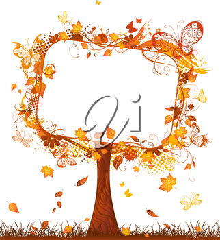 Bright autumn illustration. There is place for your text.