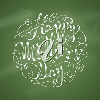 Hand-written lettering. Vector hand-drawn typographical background.