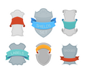 Badges, labels, borders, frames, tags, labels designs isolated on white background. There is copy space for your text inside them.