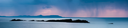Panoramic view of the Skerries Islands out the coast of Portrush at sunset over the atlantic ocean