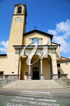 zebra crossing church albizzate varese italy the old wall terrace  bell tower