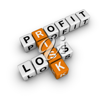 profit, loss and risk (blue-white cubes crossword series)