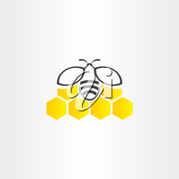 honeycomb and bee symbol design