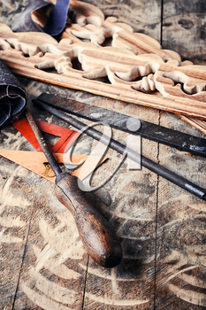 Tools for decorative woodworking in retro style