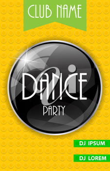 Vertical Dance Party Flyer Background with Place for Your Text. Vector Illustration. EPS10