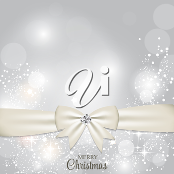Christmas Glossy Star Background with Ribbon Vector Illustration EPS10