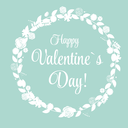 Vector St Valentine Day's Greeting Card in Retro Style Design
