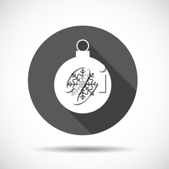 Christmas  Flat Icon with long Shadow. Vector Illustration. EPS10