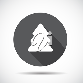 Christmas Tree  Flat Icon with long Shadow. Vector Illustration. EPS10