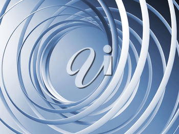 Monochrome abstract 3d spiral background