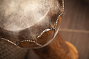 Closeup photo of djembe - small African drum