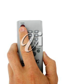 Isolated remote control in the hand