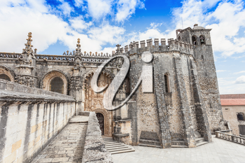The Convent of the Order of Christ is a religious building and Roman Catholic building in Tomar, Portugal
