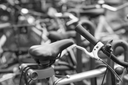 Detail of bicycle on a parking