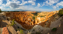 Panoramic top view on Bryce Canyon National Park with skyline, Utah, USA