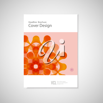 Vector brochure with abstract figures. Modern connect pattern.