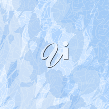 Blue and white abstract background with stains and curved lines. Vector eps10, contains transparencies