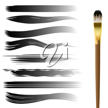Set of brush strokes collection. Vector hand drawn brushes for your design isolated on white.