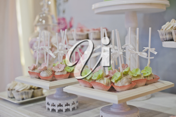 Sweet treats on the table for guests.